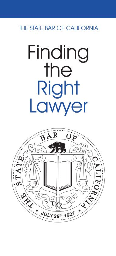 Finding the Right Lawyer Pamphlet