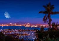 Moon over San Diego